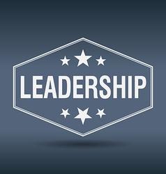 leadership hexagonal white vintage retro style vector image