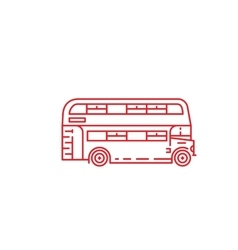 London double-decker bus vector