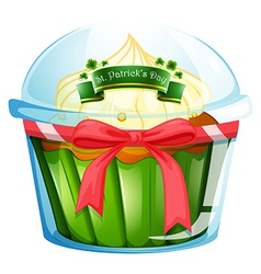 A cupcake for St Patricks day vector image