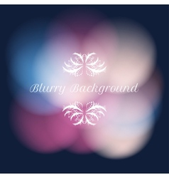 Blurry background with bokeh vector