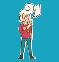 Cartoon man poses vector