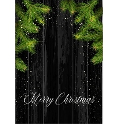 Christmas card background with fir tree and vector image vector image