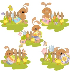 Cute easter vector