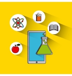 Data science online flat icons vector