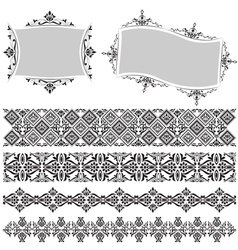 Elegant border and frame vector