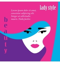 Fashion lady retro style vector image