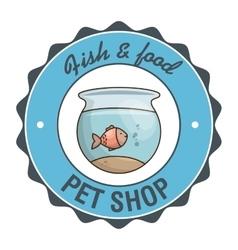 Fish pet shop icon vector