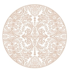 Floral round lace ornament mandala vector image