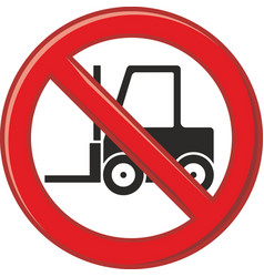 forbidden use of forklift vector image vector image