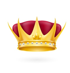 Gold crown vector image vector image