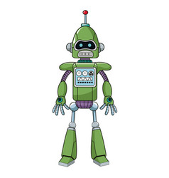 Green robot machine engineering vector