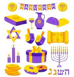 Happy hanukkah jewish holiday background vector