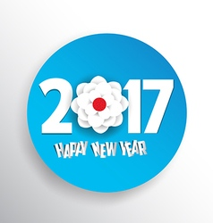 Happy new year 2017 seasons greetings blossom vector