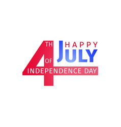 Happy usa independence day 4 th july design vector