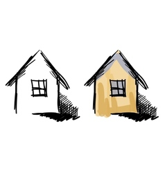 House sketches vector image