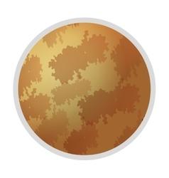 Planet mars icon vector