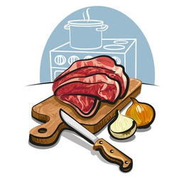 raw fresh meat vector image vector image