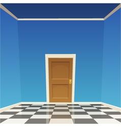 Room door - blue vector