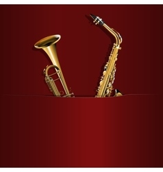 saxophone and trumpet in your pocket vector image