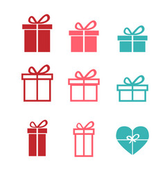 Set of gift icons and symbol vector