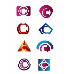 Set of letter c logo branding identity corporate v vector