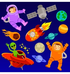 space elements vector image vector image