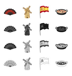spain country tourism and other web icon in vector image vector image