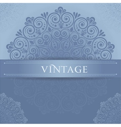 Stylish vintage vector image vector image