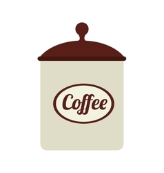 Icon coffee bowl isolated vector