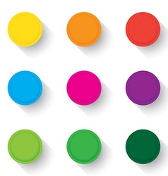 Empty buttons vector