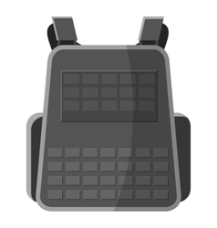 Military backpack icon gray monochrome style vector image