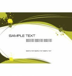 yellow grunge vector image
