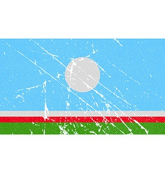 Flag of sakha yakutia republic russia with old vector