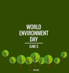 World environment day concept with tree background vector