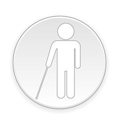 Blind disabled button vector