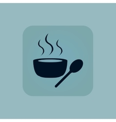 Pale blue hot soup icon vector