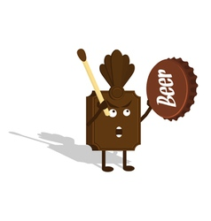 chocolate shaman vector image
