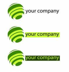 your company green logo vector image