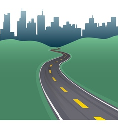 highway path vector image