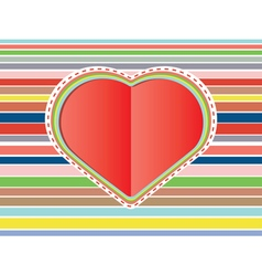 Decorative Paper Heart2 vector image