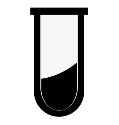 Test tube with blood icon vector