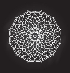 Abstract mandala on chalkboard background vector