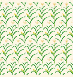 background pattern with corn stalk vector image