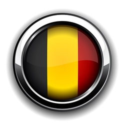 Belgian flag button vector