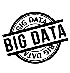 Big Data rubber stamp vector image