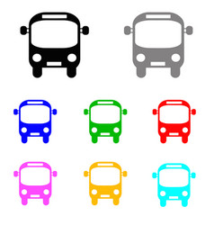 bus set in multiple colors vector image vector image