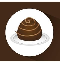 chocolate sugar desert vector image