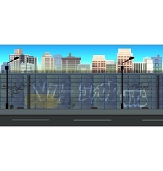 city game background vector image