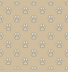 colorful paw seamless pattern vector image