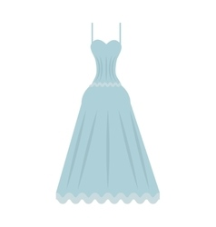 Cute wedding dress icon vector